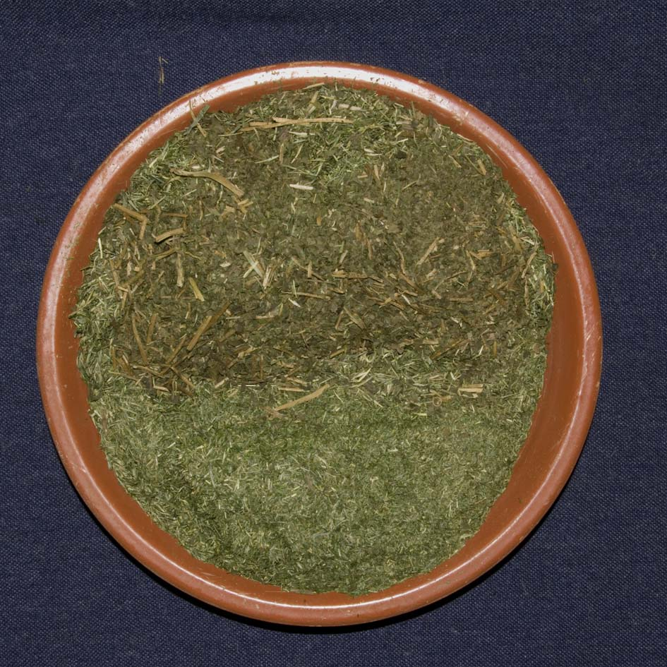 463g dried separated grass